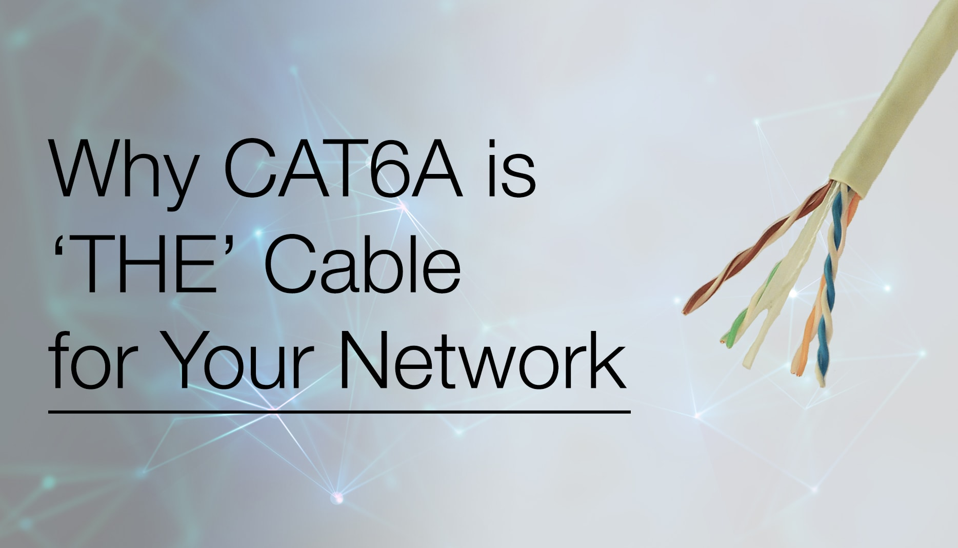 Why CAT6A is THE Cable for your Network